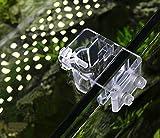 2-pack Acuario Tubo de Lily acrílico Fixture para Fix 13mm 17mm entrada salida tubo