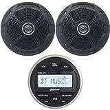JBL PRV Marine Digital Media Receiver with Built-in Bluetooth, 2X JBL 6.5' 150 Watts Dual Cone Boat Speakers - Black