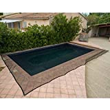 WerkaPro 10853 - Filet de Protection Piscine - Pour Piscine Rectangulaire - 6 x 10 m - Noir
