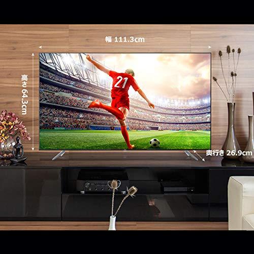 『TCL 50V型 4K液晶テレビ 50K601U HDR搭載 鮮やかな色彩 裏番組録画対応 2019年50インチモデル 50K601U』の5枚目の画像