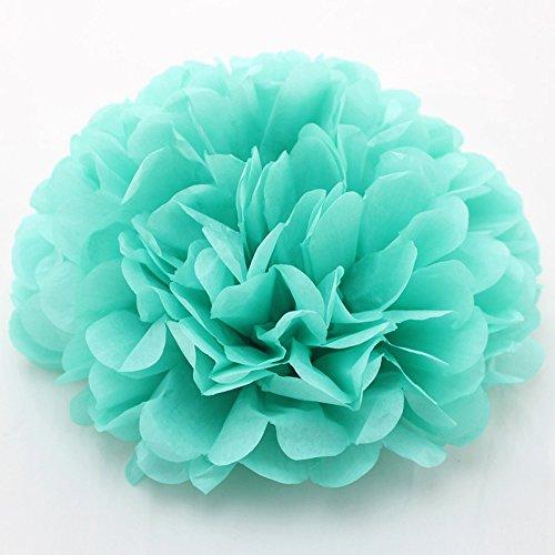 Ipalmay - 10 pompones de papel de seda de colores surtidos para decoración de fiestas de cumpleaños o hierbas (12 pulgadas, manzana), color verde 12 Inch( 30cm ) Mint