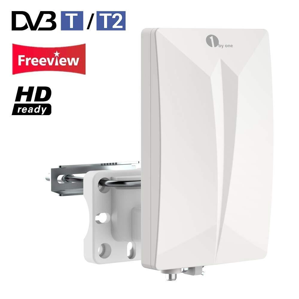 1Byone Antena TV TDT Interior / Exterior para HDTV /Televisión DVB ...