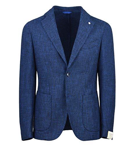 L.B.M. 1911 herenjack Blazer Pied de Poule blauw Slim 2857 75033/3-25428