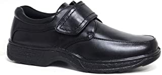 Cushion Walk Men's Leather-Lined Lightweight Formal Business Work Comfort Lace-Up, Slip-on or Touch Fastening Shoes Size ...