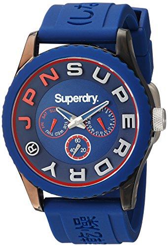 Superdry Herren Analog Quarz Uhr mit Silikon Armband SYG170U