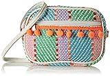 MAX Girl's Patterned Bobble Trim Zip-Closure Sling Bag
