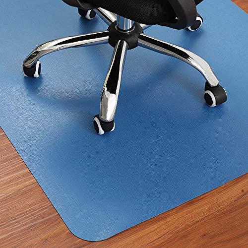 Blaue Bodenschutzmatte | 120 x 90 cm | Farbige Bürostuhl Unterlage Geeignet für Vielfältige Hartboden