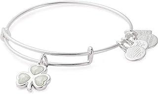 Alex and Ani Crystal Shamrock Bangle Bracelet