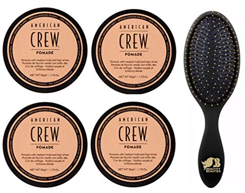 Crew Pomade 3 Ounce Pack Of 4 And Beautify Beauties Brush