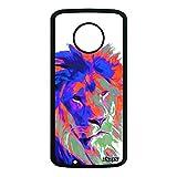 utaupia Coque Silicone Lion pour Motorola Moto G6 lionne Rigide Design Antichoc Orange Telephone...