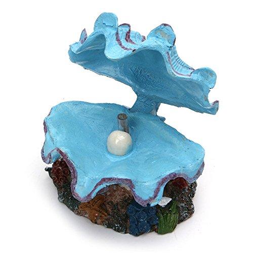 Pet Online Shell Ornamente pearl Jakobsmuscheln Fischteich Landschaftsbau Ornamente aquarium Dekorative bubble Schlauchboot Pumpe Schlauchboot belüftet, 10,5*8*8 cm, blau