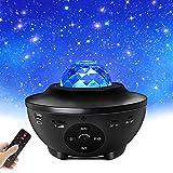 LED Sternenhimmel Projektor, Starry Projector Light, Galaxy Light mit Wasserwellen und Bluetooth-Lautsprecher für Kinder Erwachsene Party und Geschenke