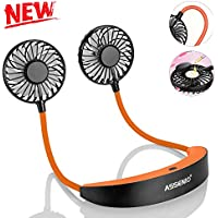Assenio Mini USB Neck Fan Rechargeable Neckband Fan
