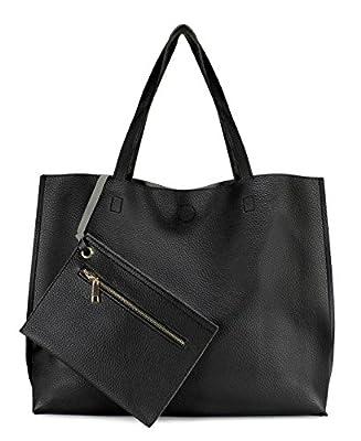 Scarleton Stylish Reversible Tote Handbag for Women, Vegan Leather Shoulder Bag, Hobo bag, Satchel Purse, H1842