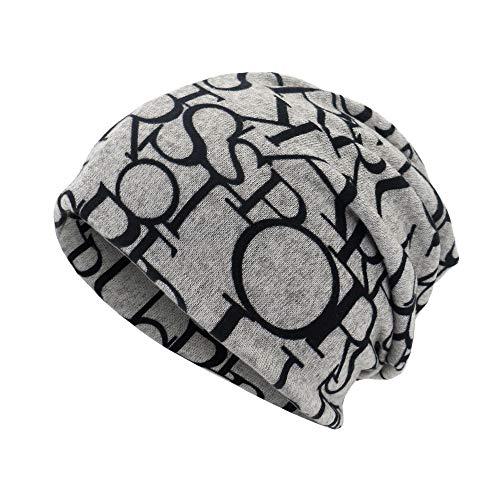 Aberimy Beanie Damen Herren Mützen Jersey Kopfbedeckung Baumwolle elastisches Wintermütze Strickmütze Longbeanie, Leicht und Weich, Kopfbedeckung für Sport, Chemo, Haarausfall, Schlaf 0053