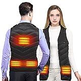 Gilet riscaldato Ricarica USB Giacca elettrica Gilet invernale termico caldo per uomo Donna Terapia...