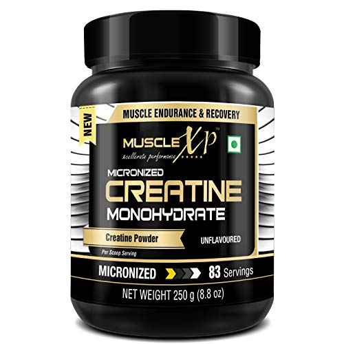 MuscleXP Micronized Creatine Monohydrate Powder, Unflavored, 250g (8.8oz) - 83 Servings