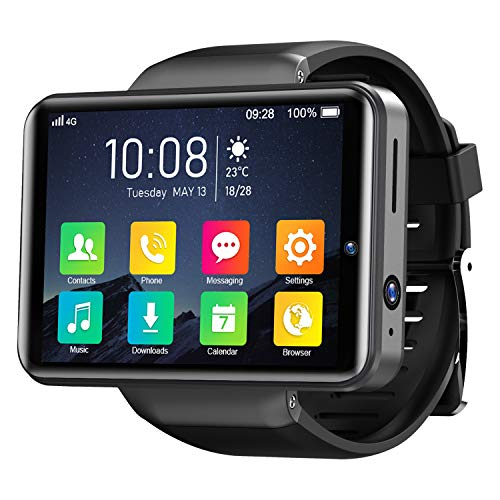 KOSPET Note 4G Smart Watch 2,4 pollici IPS HD Touch Screen 3G RAM 32GB ROM Android Smartwatch con GPS Dual Camera ID, Batteria 2000mAh Misurazione della frequenza cardiaca per uomo