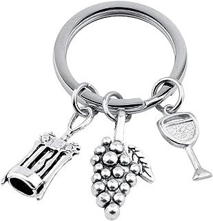 Key Ring for Wine Lover Grape Charm Bottle Opener Charm Wine Jewelry