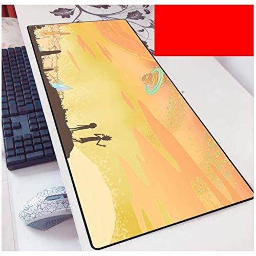 Rick and Morty Gaming Mouse Pad XXL Large Mouse Mat Keyboard Mat Extended Mousepad for Computer Desktop PC Laptop Mouse Pad (Color : D, Size : 900x400x3mm)