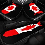 XUKE Flag Map of Canadá Png - Cojín para asiento de coche (3 piezas, seda de hielo, transpirable, cómodo y antideslizante