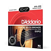 D'Addario ダダリオ アコースティックギター弦 EXPコーティング ブロンズ Medium .013-.056 EXP12 【国内正規品】