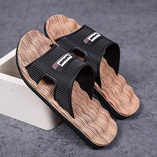 TDYSDYN Zapatillas de baño Unisex,Sandalias y Pantuflas de baño y baño, con Chanclas de Suela Gruesa en el Exterior-marrón_42