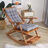 Cojines de las tumbonas Cojinesjardín Funda de Cojín para tumbona de jardín, silla de escritorio,almohadillas reclinables para patio, Reemplazo de cojín de asiento grueso 110x40x8 cm (sin silla)