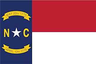 2-Pack North Carolina State Flag Decal Sticker   5-Inches By 3-Inches   Premium Quality Vinyl   PD339
