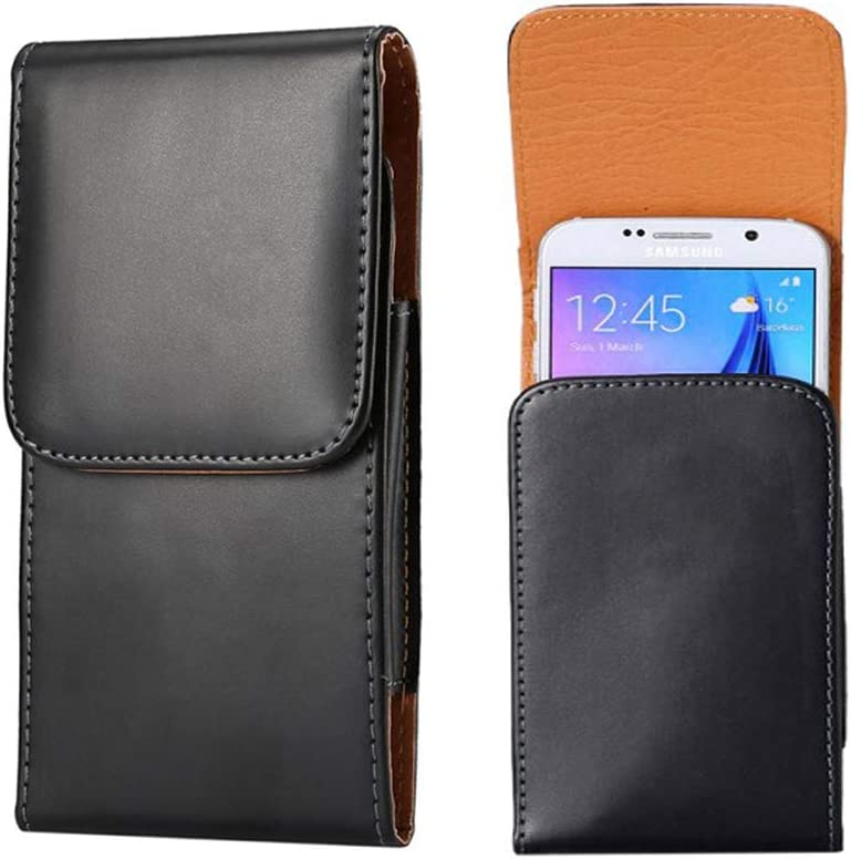 Universal Cell Phone Belt Holster PU Leather Belt Clip Belt Pouch Case for iPhone 8 Plus 7+ 6 Plus Galaxy S10 Plus A30 A50 J8 LG V40 G7 ThinQ Stylo 4 Stylo 3 V20 BLU Vivo XL4 VIVO XI+