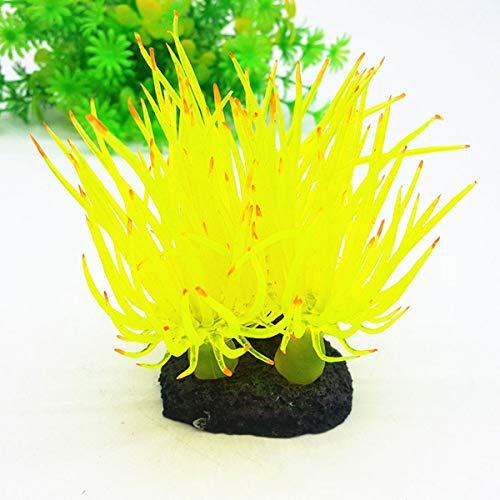 Podazz - Pianta di Corallo per Acquario, Effetto Luminoso, in Silicone, Decorazione Artificiale per Acquario, Paesaggio dell'Acquario