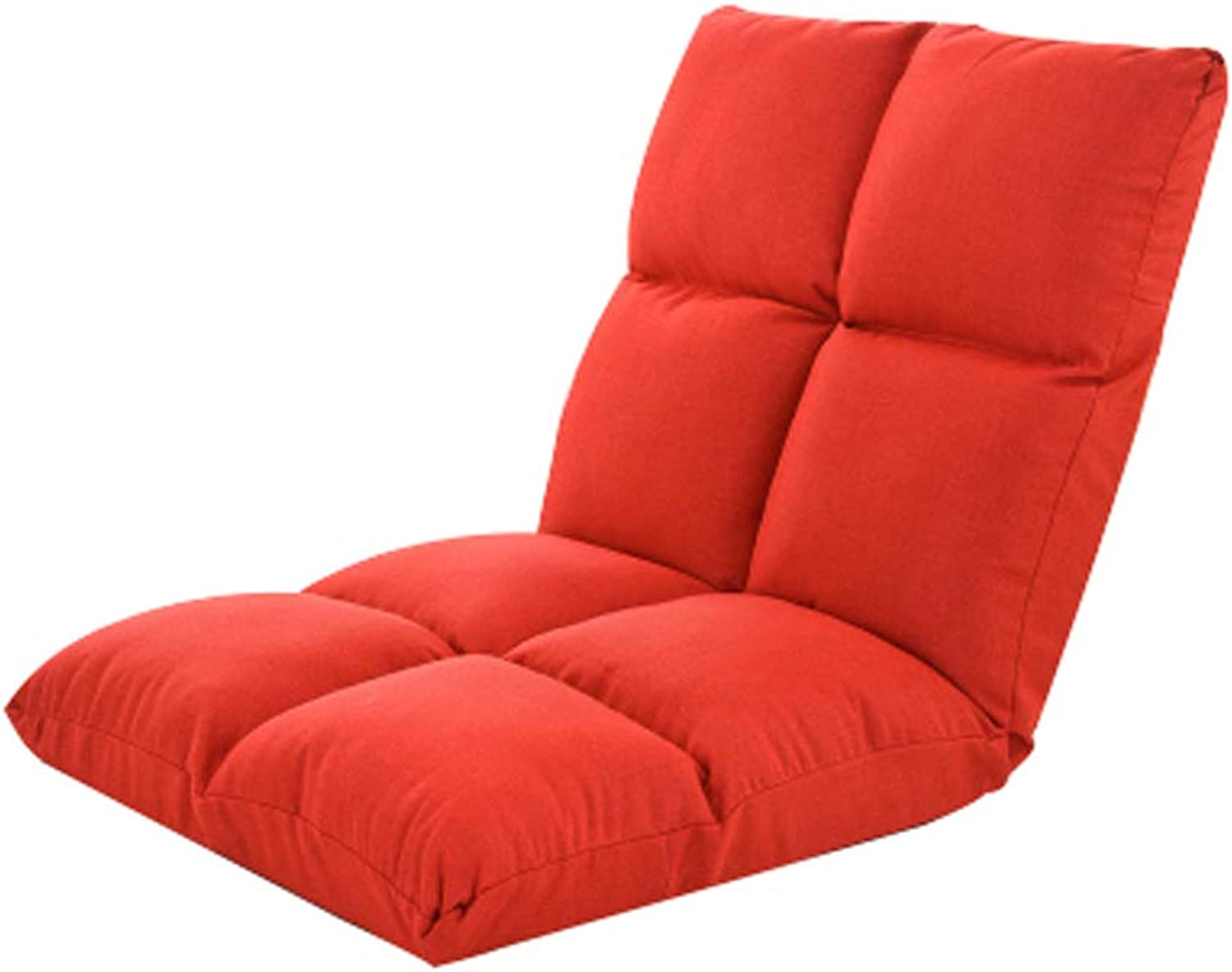 Meditation Chair, Creative Lazy Couch Chair Single Foldable Bay Window Floor Chair Leisure Recliner Bed Chair, Multi-color Optional (color   RED)