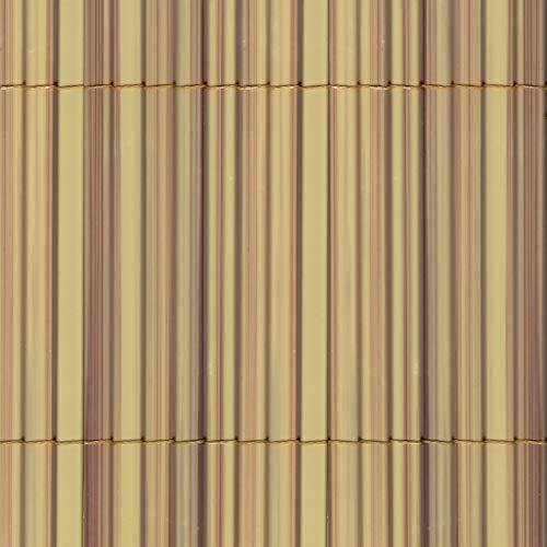 Canniccio Sintetico a Canne Intere da 7 mm, Schermante Frangivista, Tenax Colorado, Colore Naturale 1,50 x 5 m