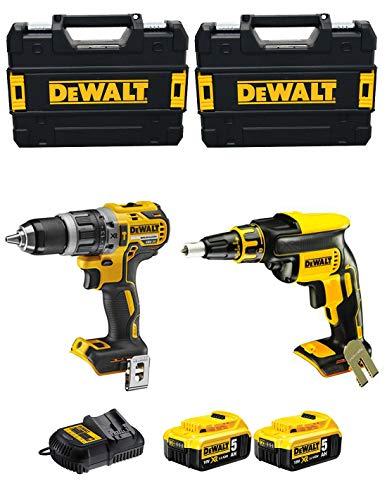 DEWALT - XPROF296 (DCD796 + DCF620 + 2 baterías x 5,0 Ah Li-Ion + 2 maletas TSTAK II + cargador DCB105)