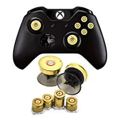 Pair of Joystick Thumbstick Bullet buttons and ABXY Buttons for XBOX One / for XBox One Old Controller / for XBox One New Controller with 3.5 mm earphone port / for XBox One S new Controller / for XBOX one Elite Controller video game controller Made ...