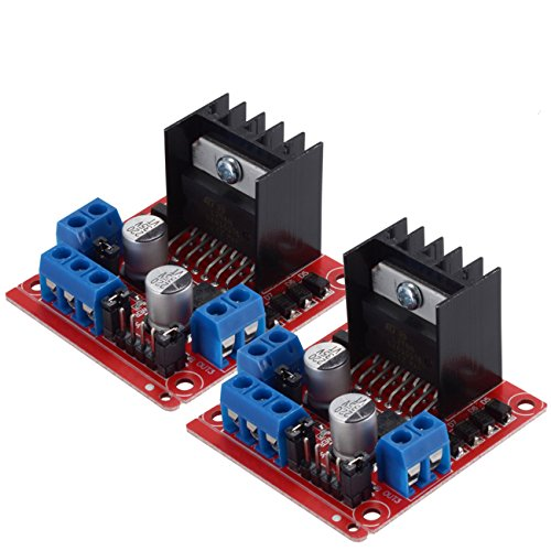 PChero L298N Motor Drive Controller Board Module, Dual H Bridge DC Stepper voor Arduino Smart Car Robot - 2Packs