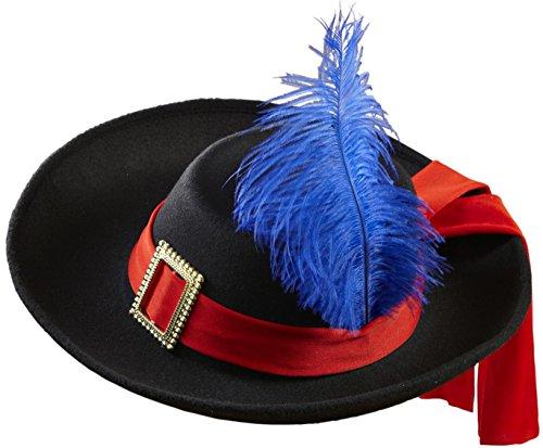WIDMANN 0490r?Sombrero de mosquetero, de fieltro cepillado, talla única infantil