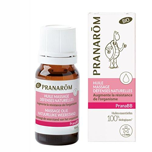 Pranarôm - Pranabb - Huile de Massage Défenses Naturelles - Augmente la Résistance de L'Organisme Spécial Bébé - Bio Eco - 10 ml