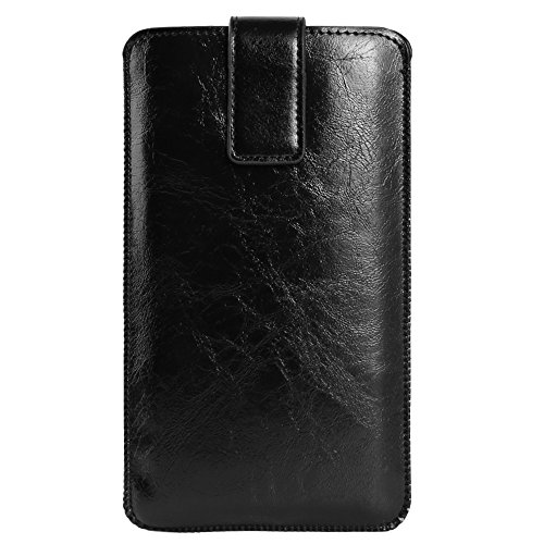 BXQ PU Leather Universal Vertical Holster Sleeve with Card Slot for Samsung Galaxy Note 9 8 / S9+ S8+ / A9 A8+ A6+ J8 / Nokia 7 Plus/HTC U12+ U11+ / Desire 12+ / OnePlus 6T