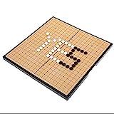 Pwshymi Go Game Weiqi Set Go Juego de Mesa Go Game Travel Set Tablero de ajedrez Plegable magnético para Adolescentes