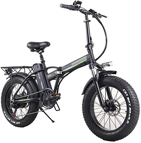 Bici electrica, Plegable bicicleta eléctrica for los adultos, Montaña bicicleta eléctrica 7 Velocidad de Transmisión Engranajes, 48V10AH Ebike conmutan con 350W de motor for la ciudad de Tráfico de ci