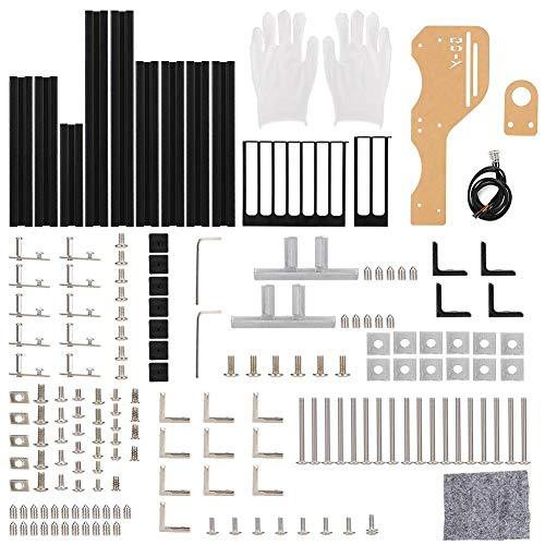 オープンシャーシ マザーボードケース シャーシ カバー PCケース PCシャーシ ATX/M-ATX/ITX用 取り付け簡単 アルミプロファイル フレームシャーシラック(ブラック)