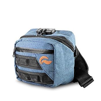 Kross Smell Proof Fanny Pack Hipster Bag w/ Combo Lock  Navy Denim