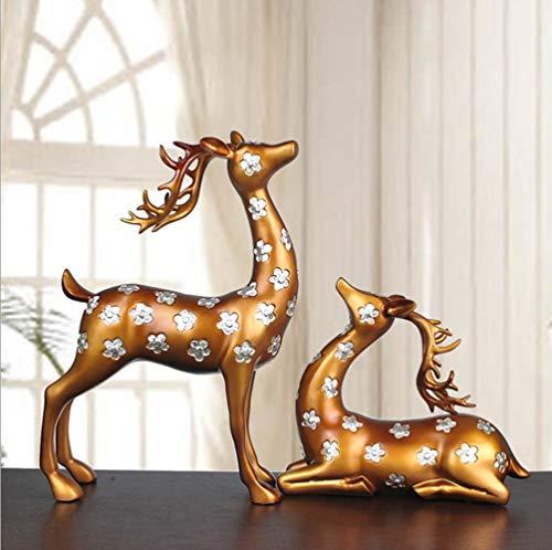Somnrchun Grote Spotted Deer Creative Crafts Woonkamer TV-kast Ornament mediterrane serie
