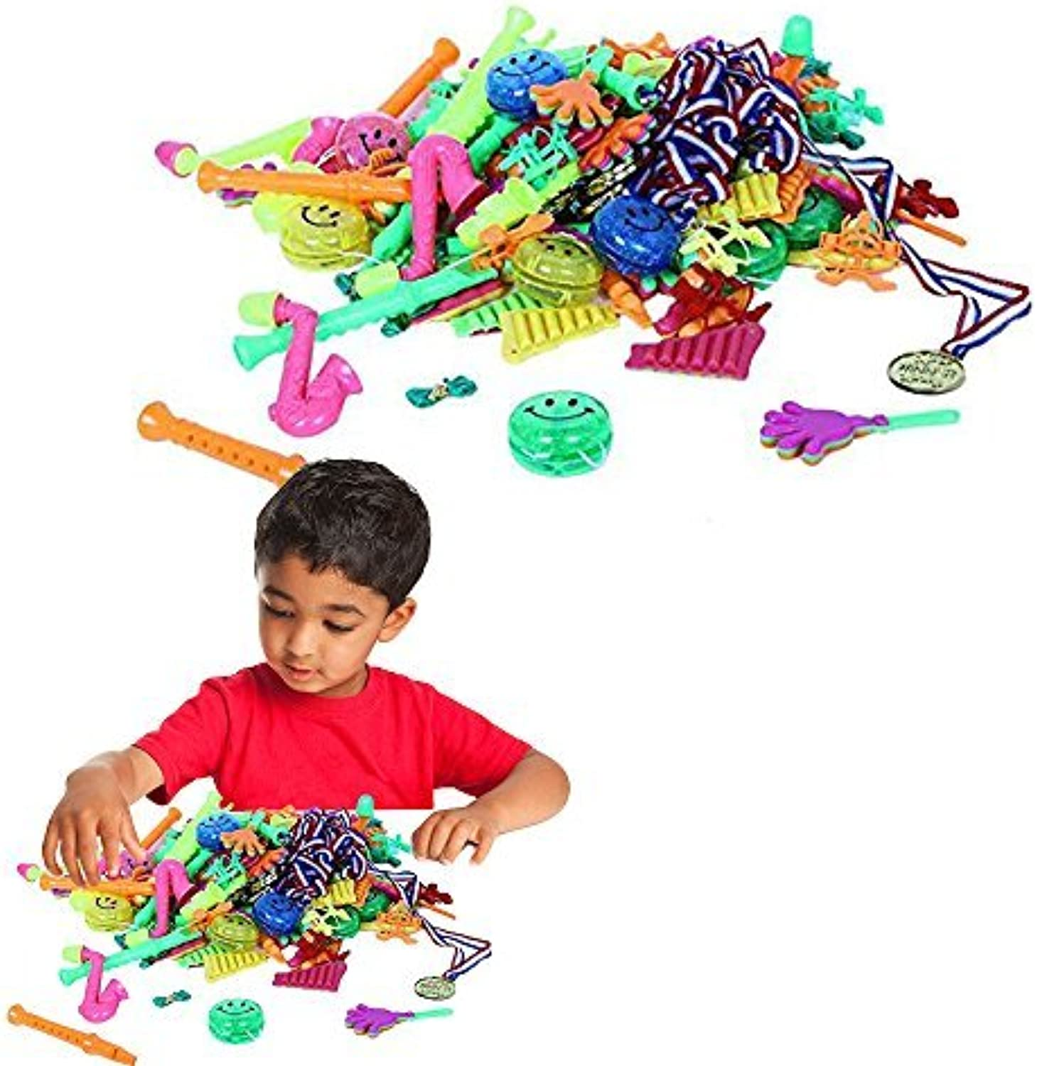 Toy Cubby Party Supply 96 Assorted Party Favors Toy Goodies Set by Toy Cubby