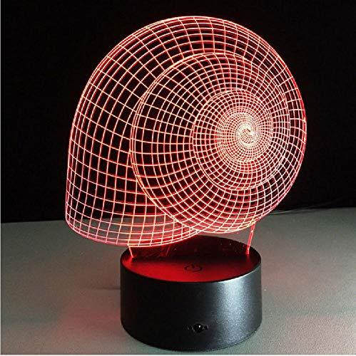 schelp lamp schelp 3D nachtlicht Visual Illusion LED lamp slaapkamer tafel USB kleur veranderende licht Lam als decoratie van huis telefoon afstandsbediening Bluetooth