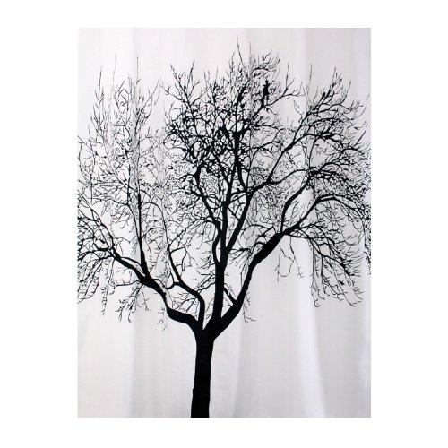 cortinas baño blanco y negro