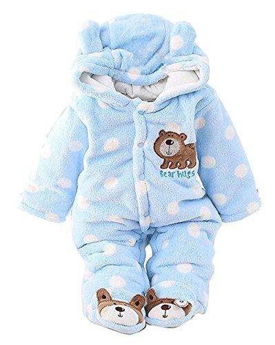 CM C&M WODRO C&M Baby Jumpsuit Outfit Hoody Coat Winter Infant Rompers Toddler Clothing Bodysuit … Blue