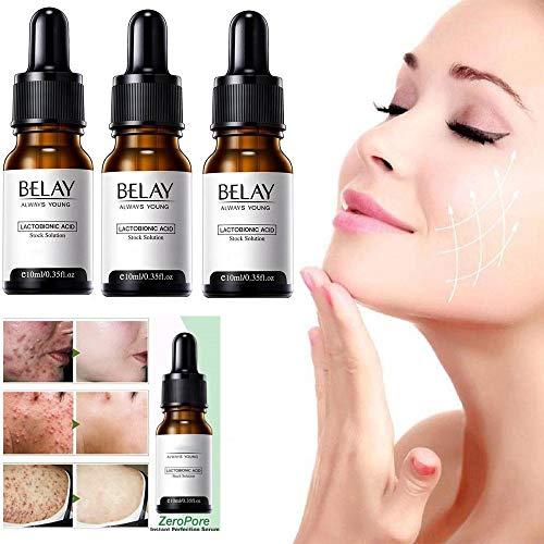 3/6PCS Zero Pore Instant Perfection Serum Organic Hyaluronic Acid Reduce Sun Spots Wrinkles Minimize pores Anti Aging Facial Serum For All Skin Types