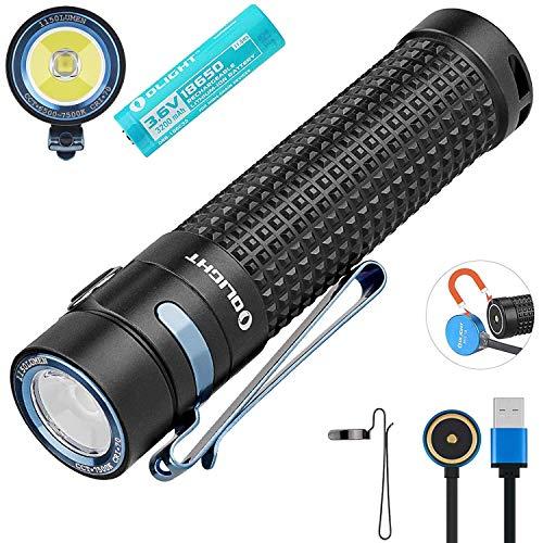 OLIGHT S2R Baton II LED Taschenlampe 1150 Lumen Mit 135 Meter Reichweite, USB wiederaufladbare Mini Taschenlampen, 60 Tage Laufzeit, inkl. Batterien